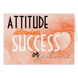 態度の…成功のオレンジハートの背景 カード