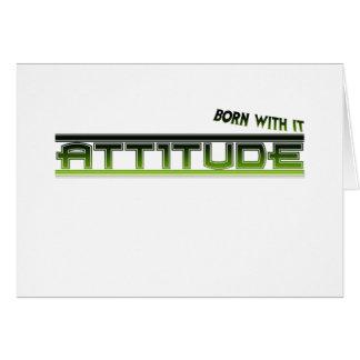 態度: それと生まれて下さい カード