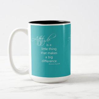 態度 ツートーンマグカップ