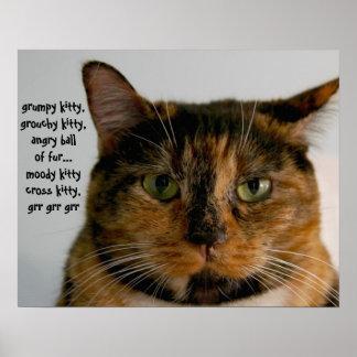 態度、気難しい子猫の歌の脂肪質猫 ポスター