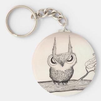 態度- Keychainのフクロウ キーホルダー