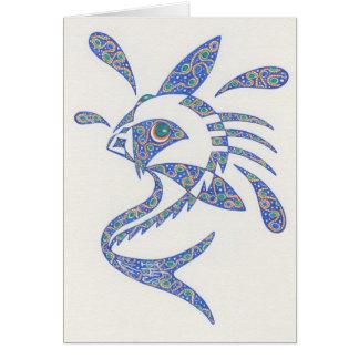 態度Notecardの魚 カード