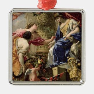 慎重さの一流の平和および豊富、c.1645 (油 メタルオーナメント