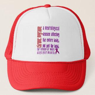 慢性の片頭痛-神経疾患の帽子 キャップ