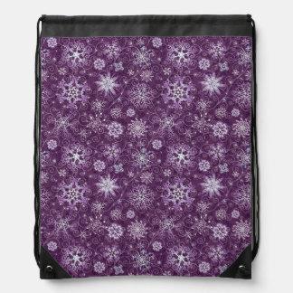 慢性の苦痛のための紫色の雪片 ナップサック
