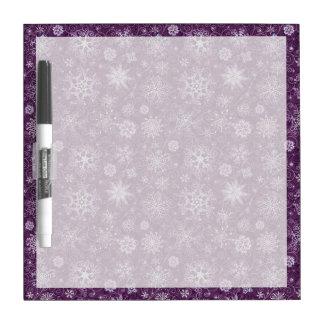 慢性の苦痛のための紫色の雪片 ホワイトボード