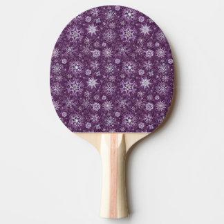 慢性の苦痛のための紫色の雪片 卓球ラケット