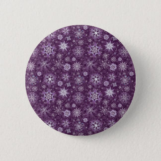 慢性の苦痛のための紫色の雪片 5.7CM 丸型バッジ