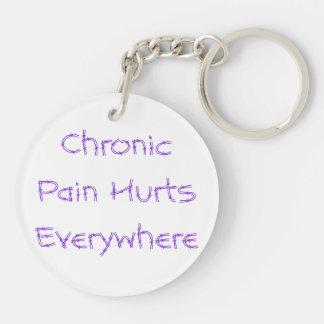 慢性の苦痛はどこでも傷つきます キーホルダー