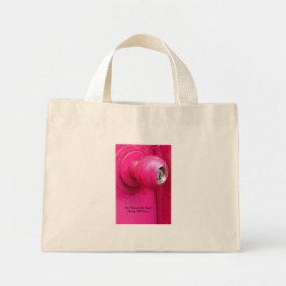 憂欝なデンマーク人のピンクのドアのロゴのトート ミニトートバッグ