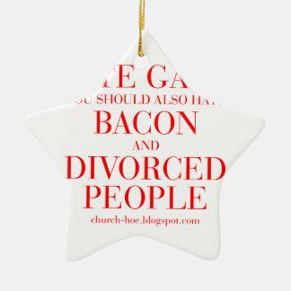 憎悪のゲイまたベーコンを憎むべきで、離婚しました セラミックオーナメント