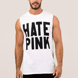 憎悪のピンク 袖なしシャツ
