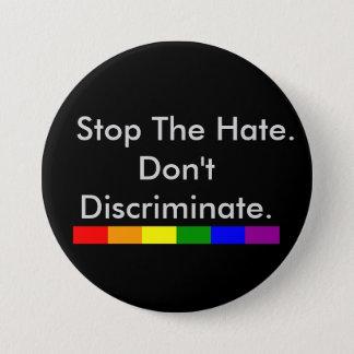 憎悪の反差別および平等をストップ 7.6CM 丸型バッジ