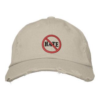 憎悪の帽子無し 刺繍入りキャップ