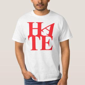 憎悪の憎悪HA TE Tシャツ