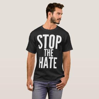 憎悪の文字のタイポグラフィのTシャツをストップ Tシャツ