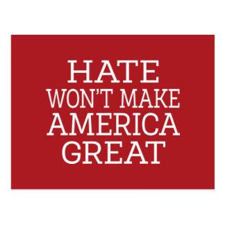 憎悪はアメリカを素晴らしくさせません ポストカード