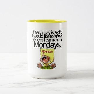 憎悪月曜日 ツートーンマグカップ