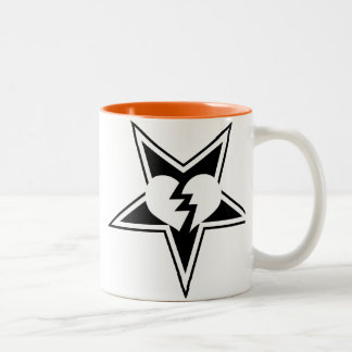 憎悪機械賭博のマグ- B/W ツートーンマグカップ