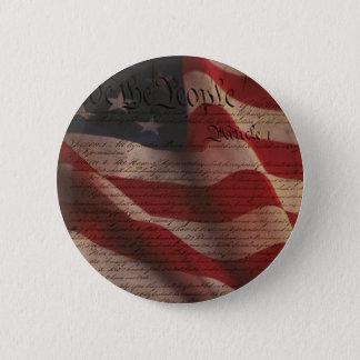 憲法および旗 5.7CM 丸型バッジ