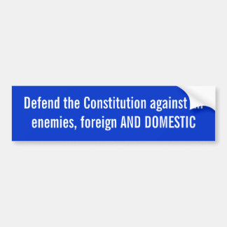 憲法のバンパーステッカーを守って下さい バンパーステッカー