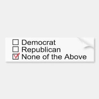 憲法のバンパーステッカーを選んで下さい バンパーステッカー