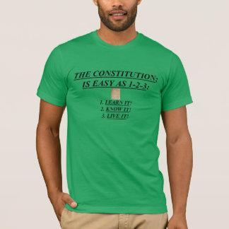 憲法のユニセックスなTシャツは容易ようにです Tシャツ