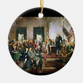 憲法の署名 セラミックオーナメント