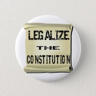 憲法を法律化して下さい 5.7CM 丸型バッジ