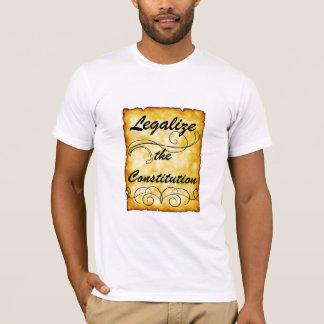 憲法を法律化して下さい Tシャツ