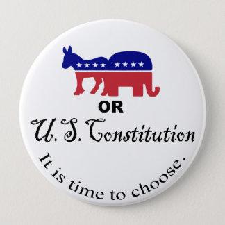 憲法ボタンを選んで下さい 10.2CM 丸型バッジ