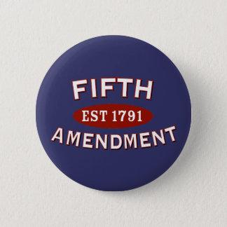 憲法修正第5条米国東部標準時刻1791年 5.7CM 丸型バッジ