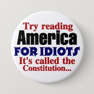 憲法: 馬鹿のためのアメリカ 7.6CM 丸型バッジ