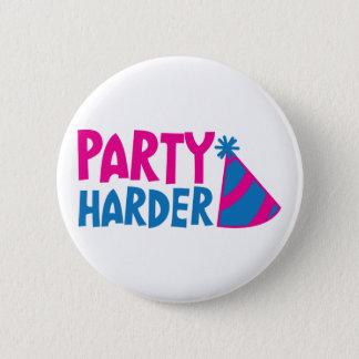 懸命のパーティー! パーティーの帽子を使って 5.7CM 丸型バッジ