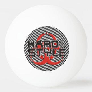 懸命は私のスタイル-黒及び白のストライブ柄です 卓球ボール