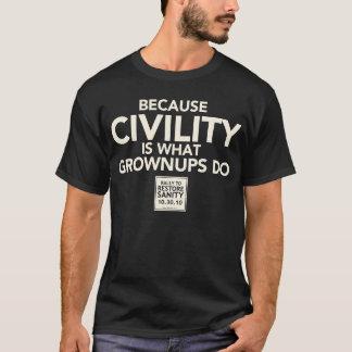 成人がすること礼儀がであるので Tシャツ