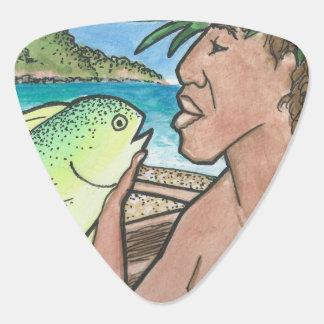 成功したハワイの漁師 ギターピック
