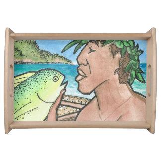 成功したハワイの漁師 トレー