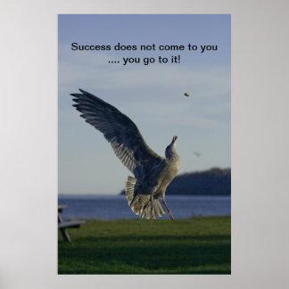 成功のやる気を起こさせるなプリント ポスター