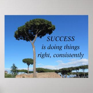 成功のやる気を起こさせるなメッセージ ポスター