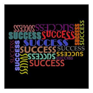 成功のタイポグラフィの正方形ポスター ポスター