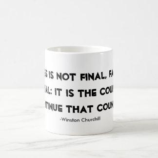 成功のマグのウィンストン・チャーチルの引用文 コーヒーマグカップ