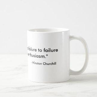 成功の引用文のChurchillのコーヒー・マグ コーヒーマグカップ