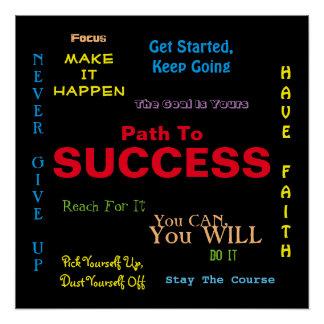 成功の感動的なポスターへの道 ポスター