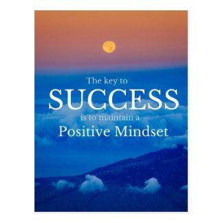 成功の感動的な引用文への鍵 ポストカード