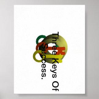 成功の3つの鍵 ポスター
