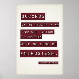 成功はあります… (編集可能大きいテンプレート) ポスター