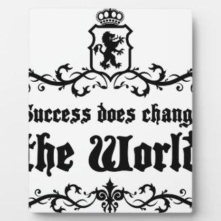 成功は世界の中世引用文を変えます フォトプラーク