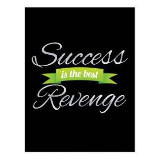 成功は最も最高のな復讐の緑です ポストカード