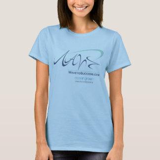 成功への波-女性ベビードール(合う) Tシャツ